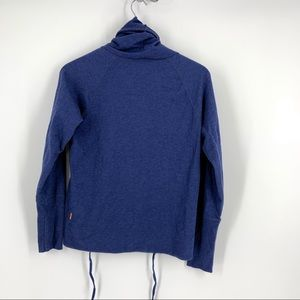 Lucy Tops - Lucy Lean and Mean Blue Pullover With Cowl Neck